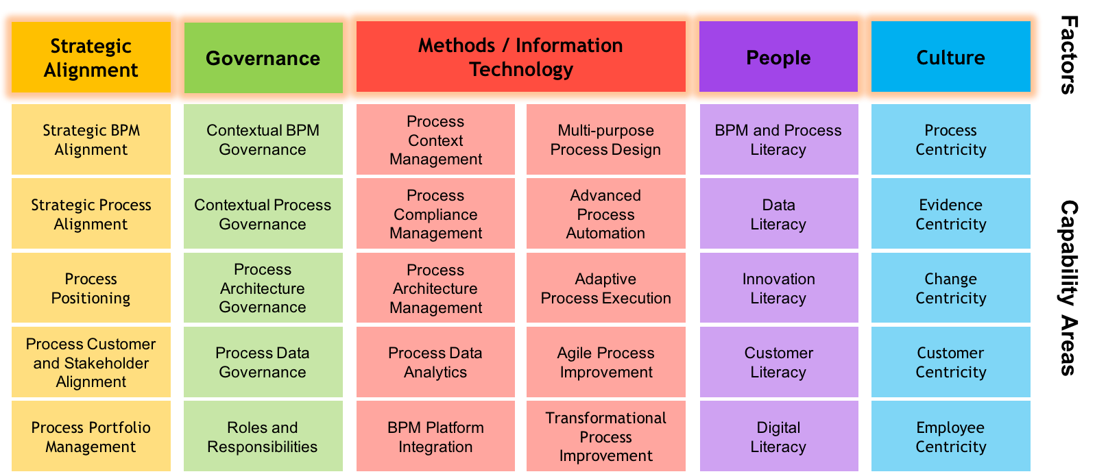 Bpm Capability Framework Bpm In The Digital Age
